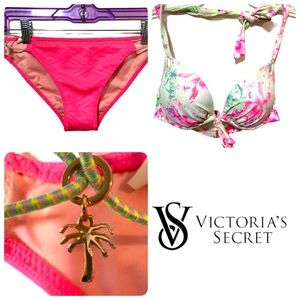 Victoria's Secret Bikini Palm Tree Charm Pink